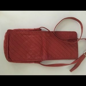 """""""Kenneth Cole"""" Red Leather Cross Body Bag"""